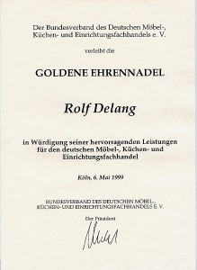Goldene Ehrennadel Rolf Delang