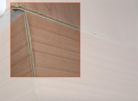 Beispiele für häufige Schadensfälle im Bereich Küchen: Gequollenes Material